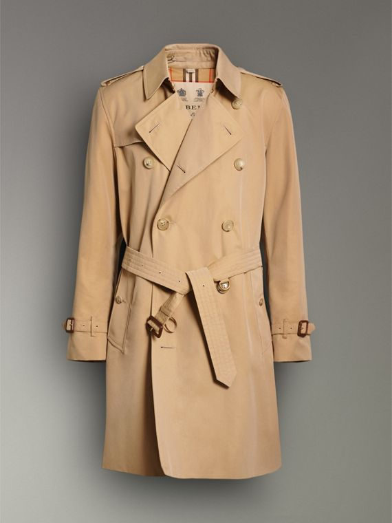 The Kensington Heritage Trench Coat in Honey - Men | Burberry - cell image 3