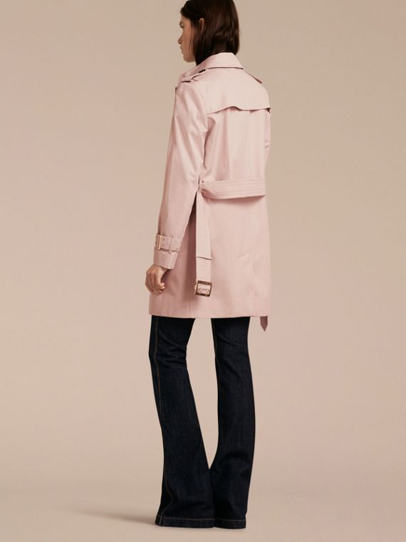 Single-breasted Trench Coat with Metal Buckle Detail Ice Pink - cell image 2
