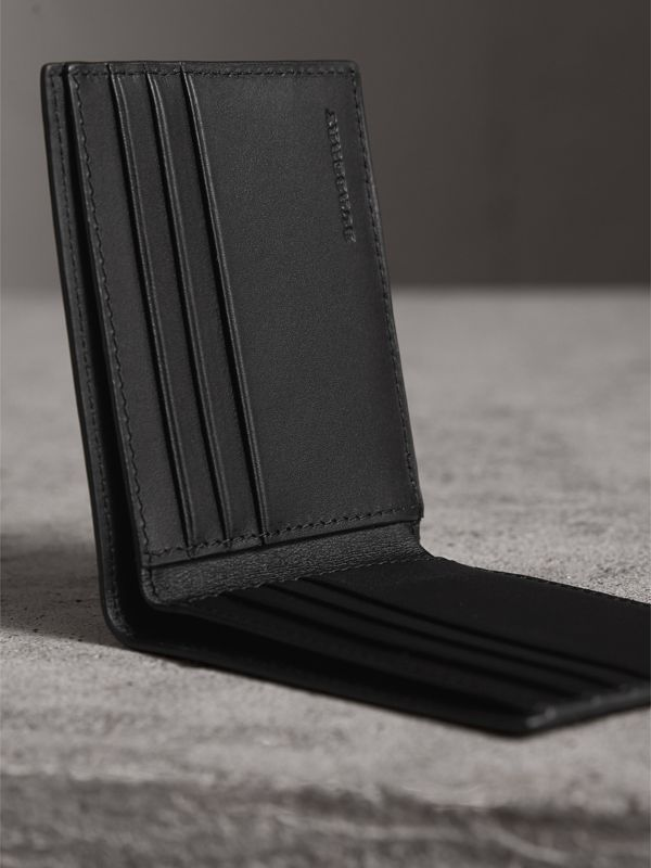 London Check Bifold Wallet in Charcoal/black - Men | Burberry - cell image 3