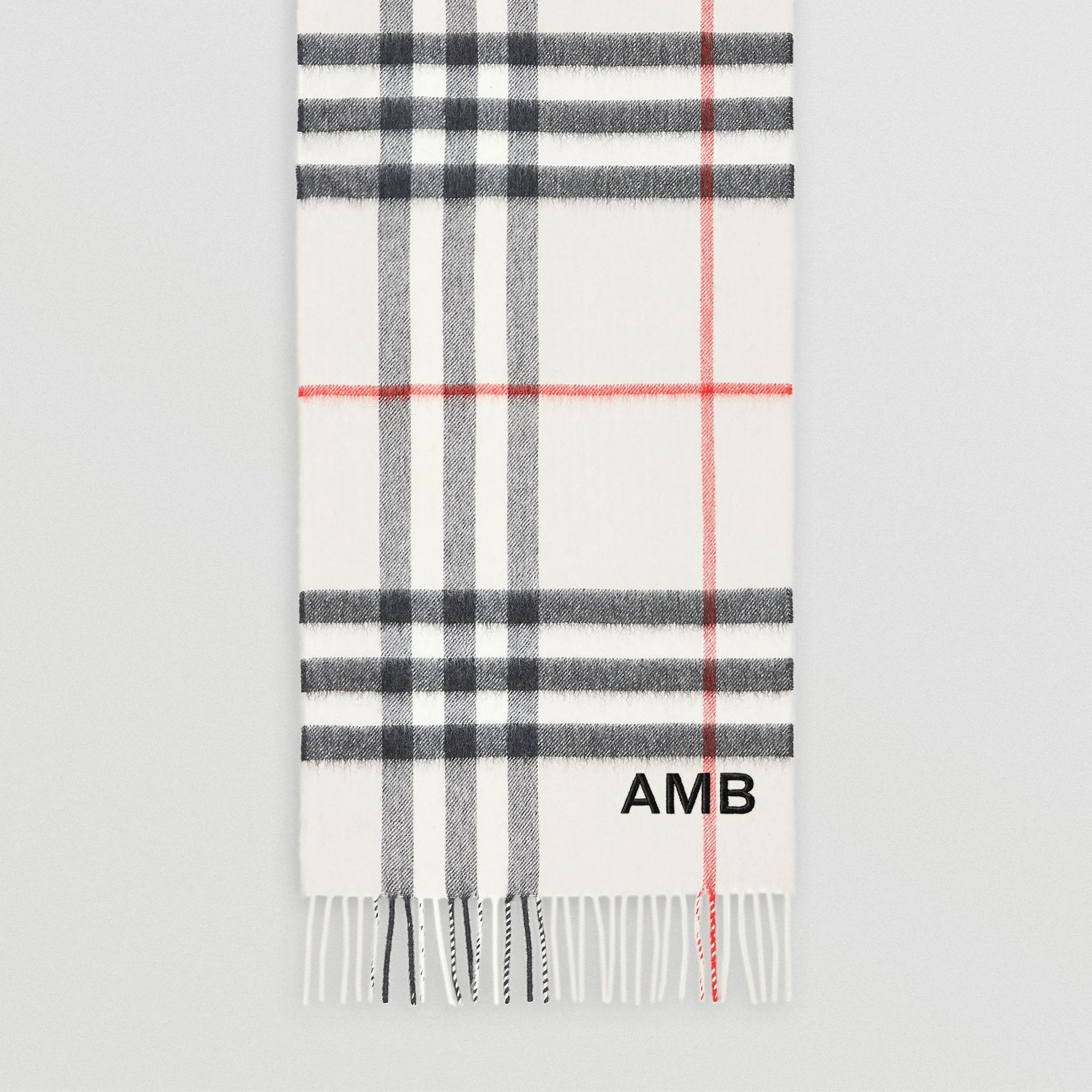 The Classic Check Cashmere Scarf in Stone | Burberry Canada - gallery image 8