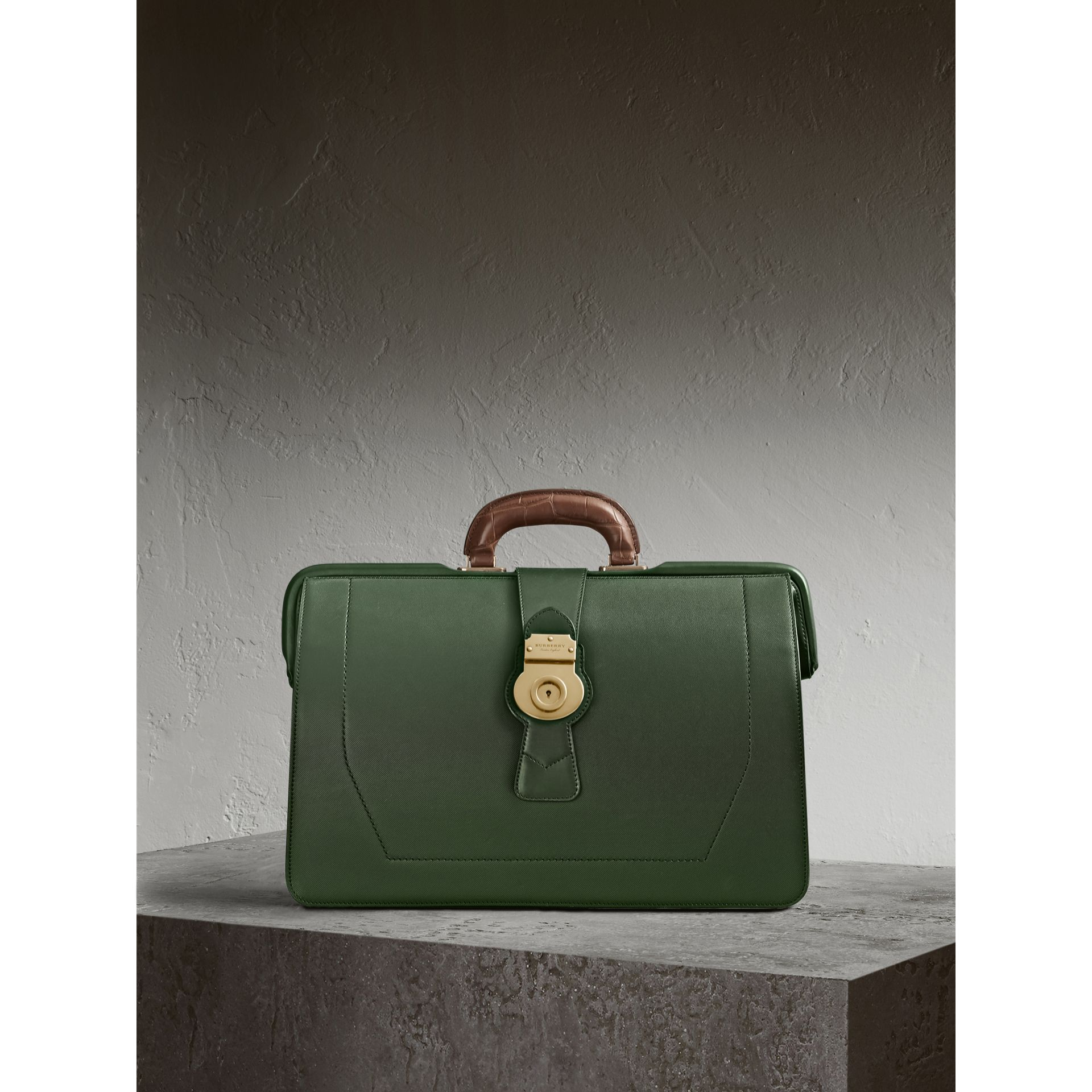 The DK88 Doctor's Bag with Alligator in Dark Forest Green - Men | Burberry United Kingdom - gallery image 1