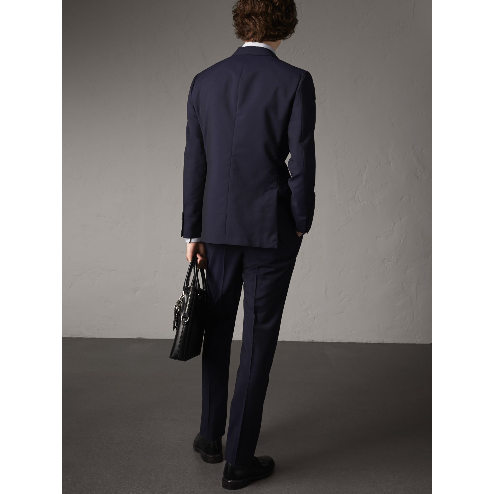 Soho Fit Wool Mohair Suit in Dark Navy - Men | Burberry - gallery image 3