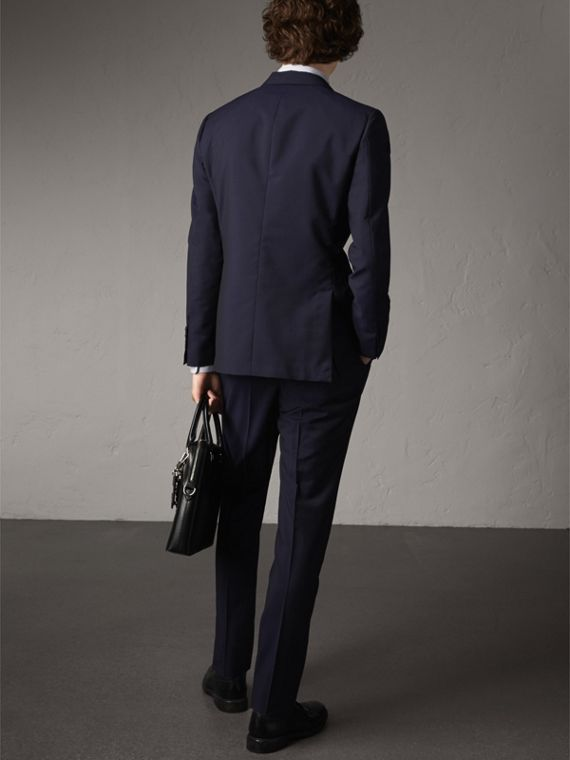 Soho Fit Wool Mohair Suit in Dark Navy - Men | Burberry - cell image 2