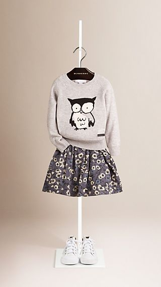 Owl Graphic Cashmere Sweater