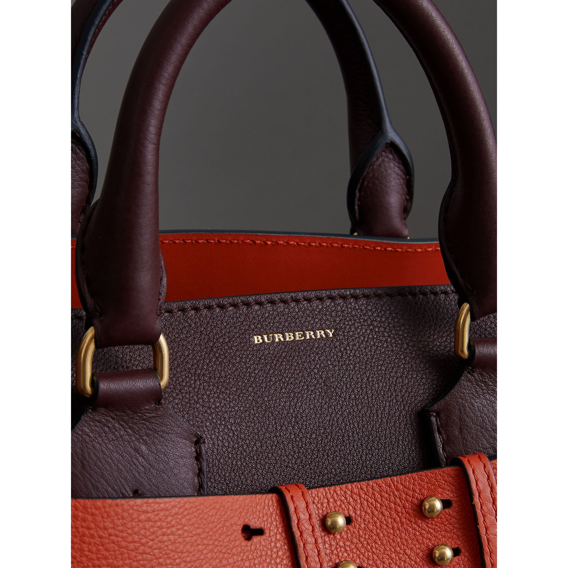 The Medium Leather Belt Bag in Deep Claret - Women | Burberry - gallery image 1