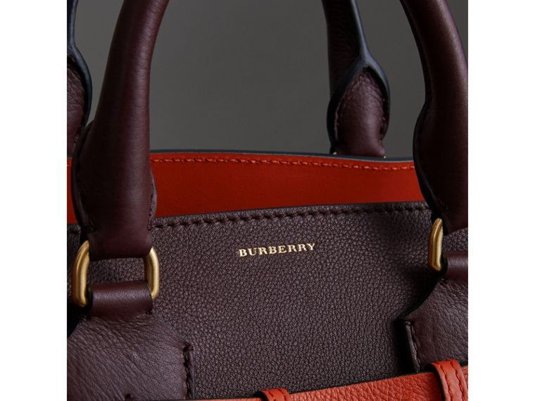 The Medium Leather Belt Bag in Deep Claret - Women | Burberry - cell image 1