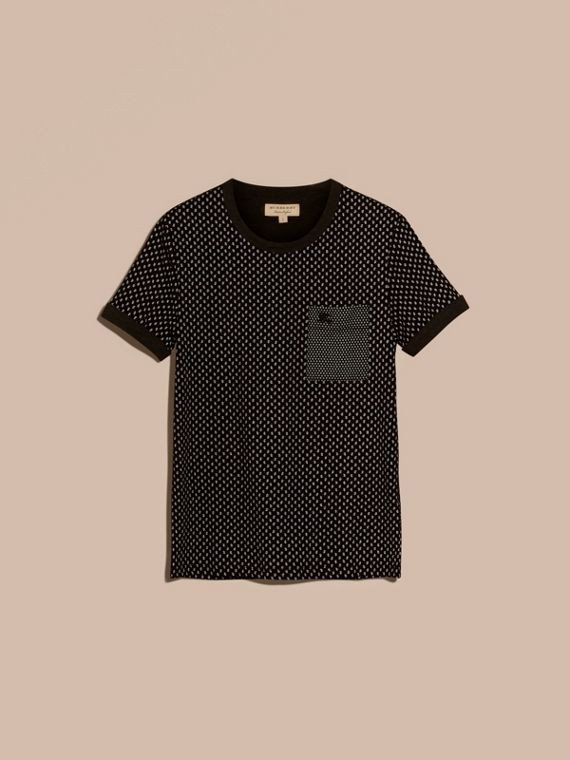 Black Paisley Cotton T-Shirt Black - cell image 3