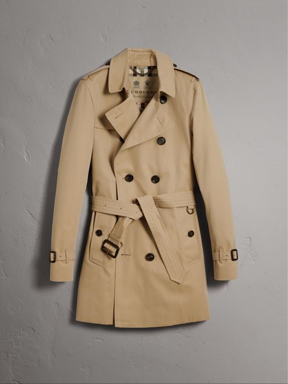 The Sandringham – Mid-length Heritage Trench Coat in Honey - Men | Burberry Canada - cell image 3