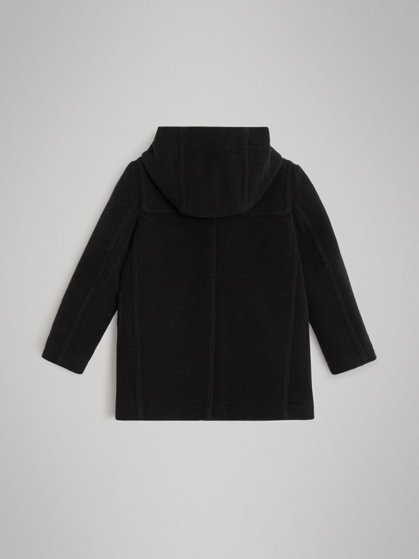Double-faced Wool Duffle Coat in Black | Burberry Australia - cell image 3