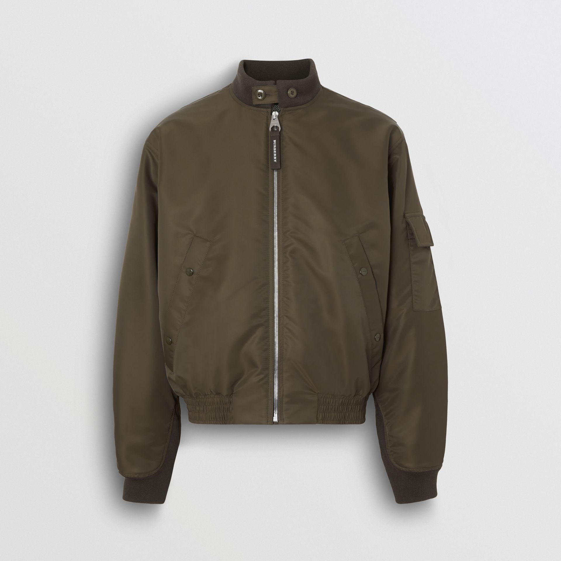 Padded Nylon Bomber Jacket in Dark Olive - Men | Burberry - gallery image 3