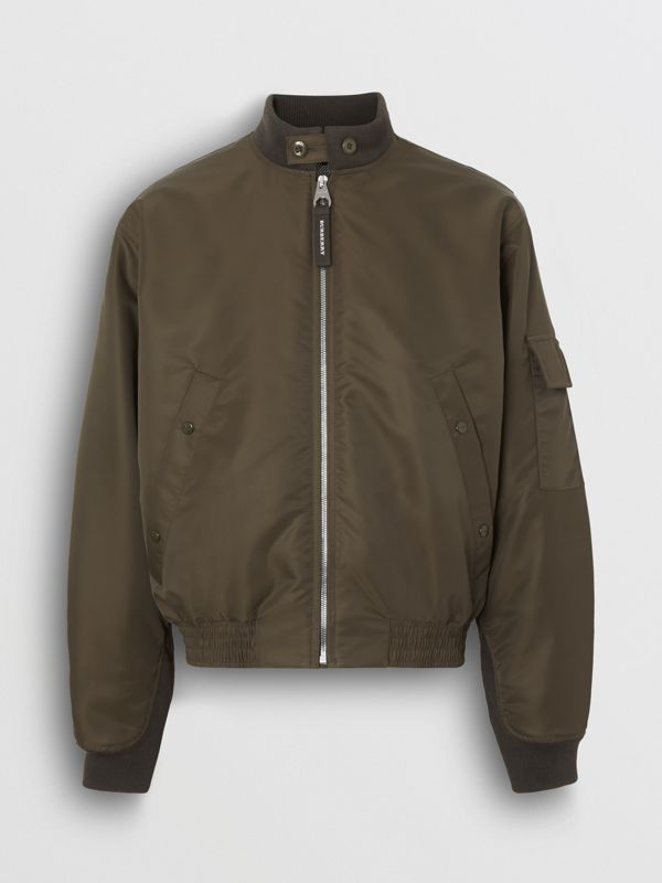Padded Nylon Bomber Jacket in Dark Olive - Men | Burberry United Kingdom - cell image 3