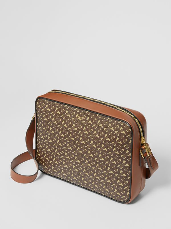 Monogram Print E-canvas Messenger Bag in Bridle Brown - Men | Burberry - cell image 3