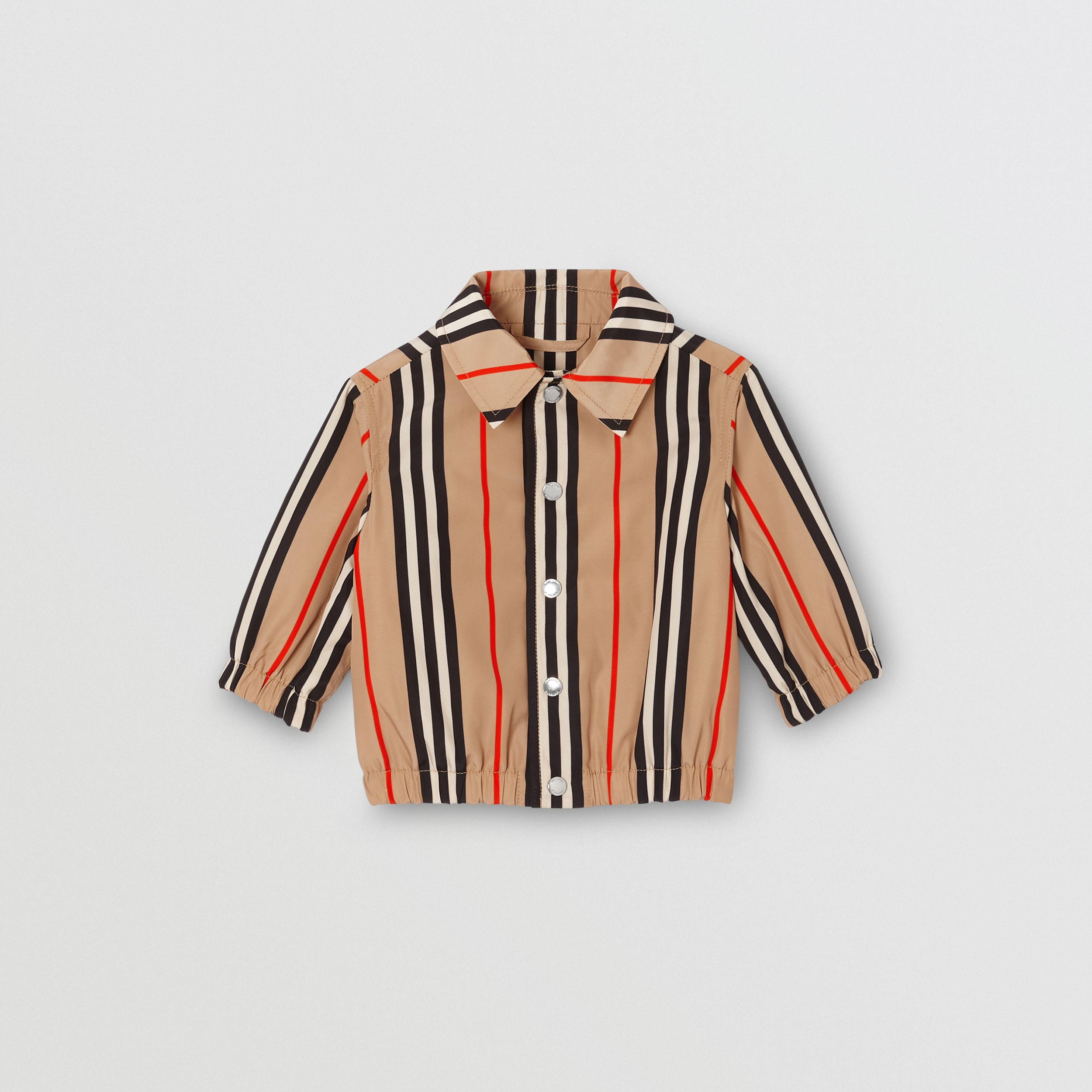 Quilt-lined Icon Stripe Jacket in Archive Beige - Children | Burberry - 1