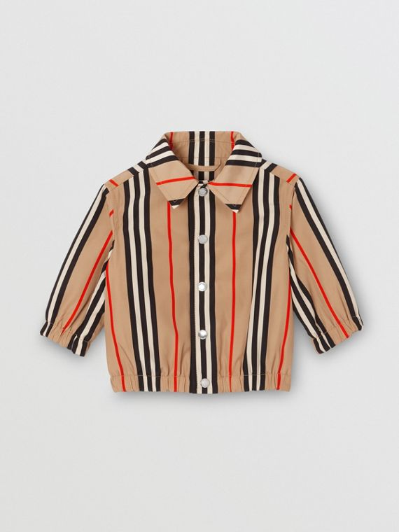 Quilt-lined Icon Stripe Jacket in Archive Beige