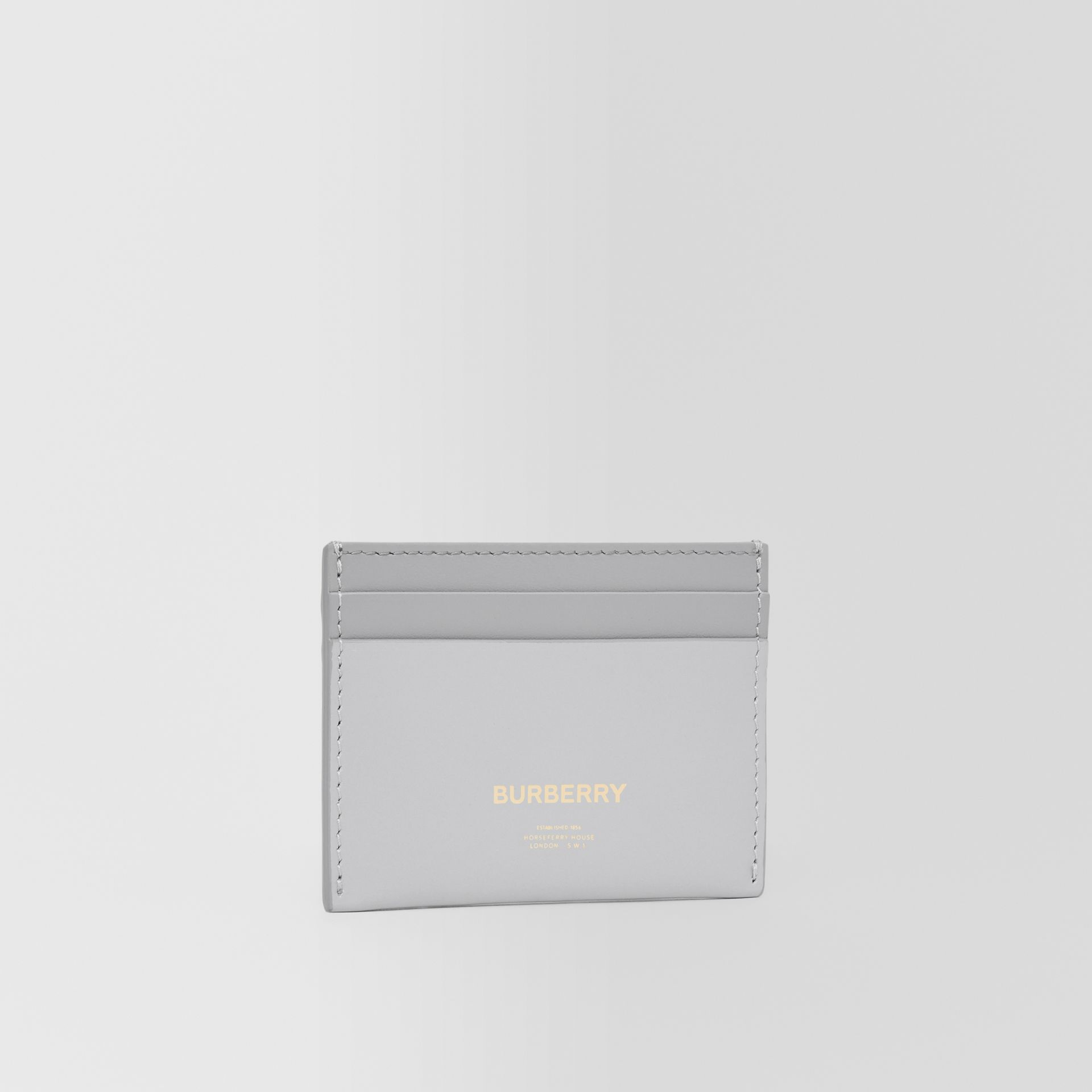 Horseferry Print Leather Card Case in Heather Melange/cloud Grey - Women | Burberry - gallery image 3