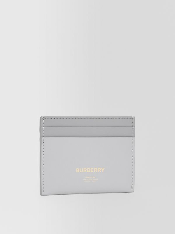 Horseferry Print Leather Card Case in Heather Melange/cloud Grey - Women   Burberry - cell image 3