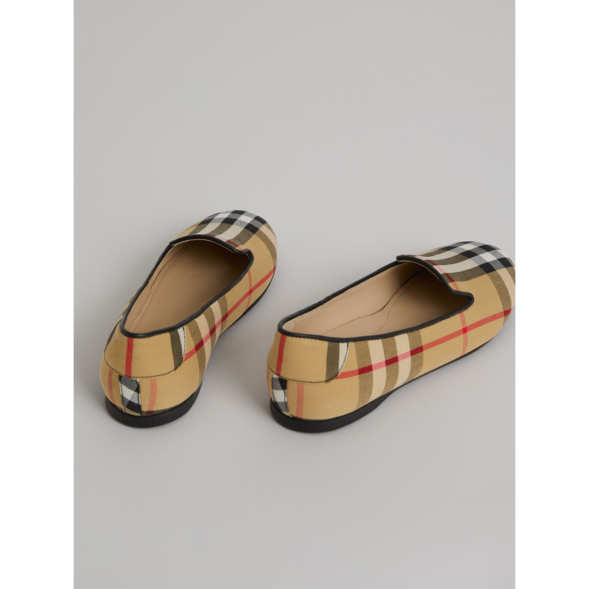 Vintage Check Slippers in Antique Yellow | Burberry Singapore - gallery image 2