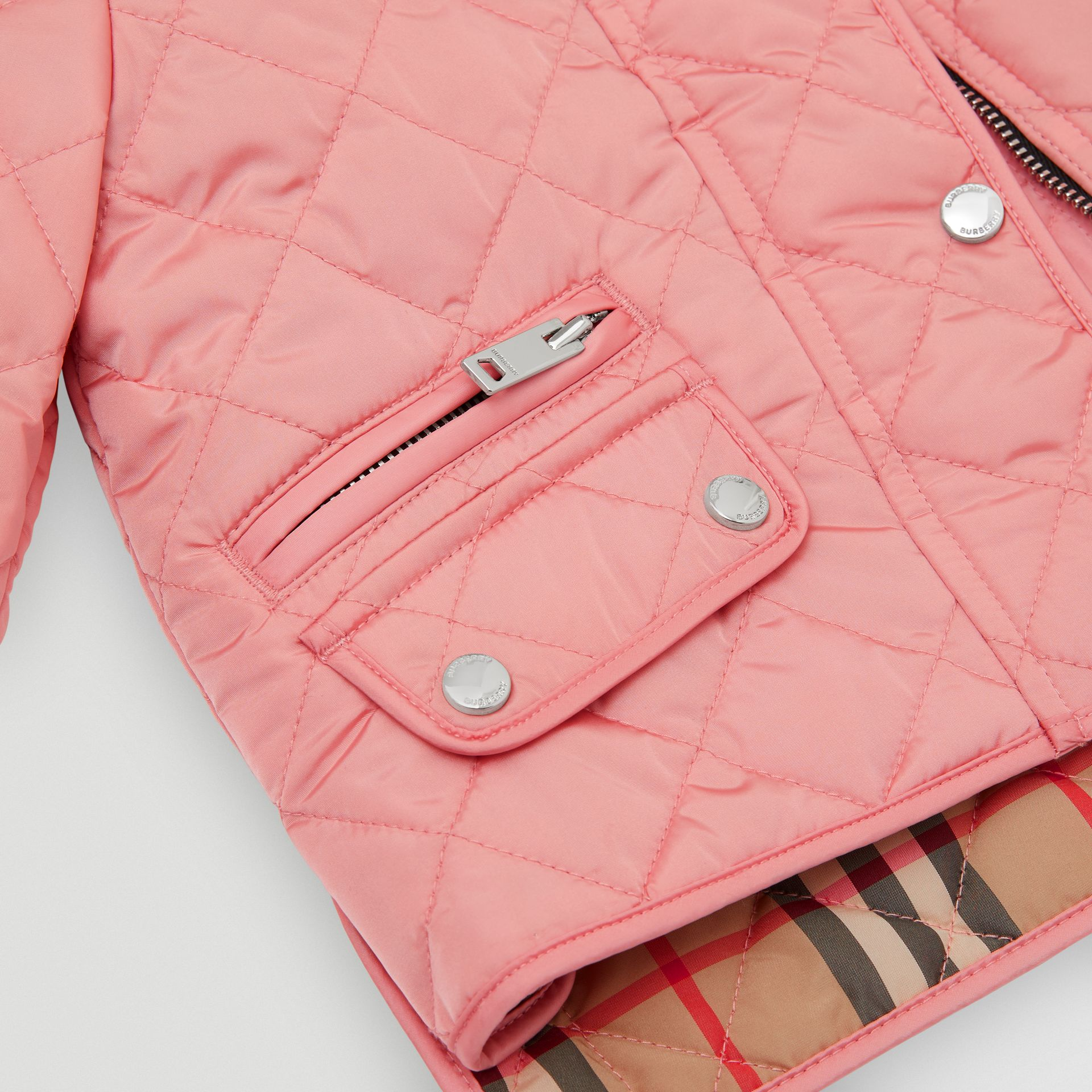 Lightweight Diamond Quilted Jacket in Dusty Pink - Children | Burberry Australia - gallery image 1