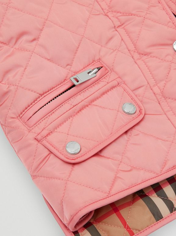 Lightweight Diamond Quilted Jacket in Dusty Pink - Children | Burberry Australia - cell image 1