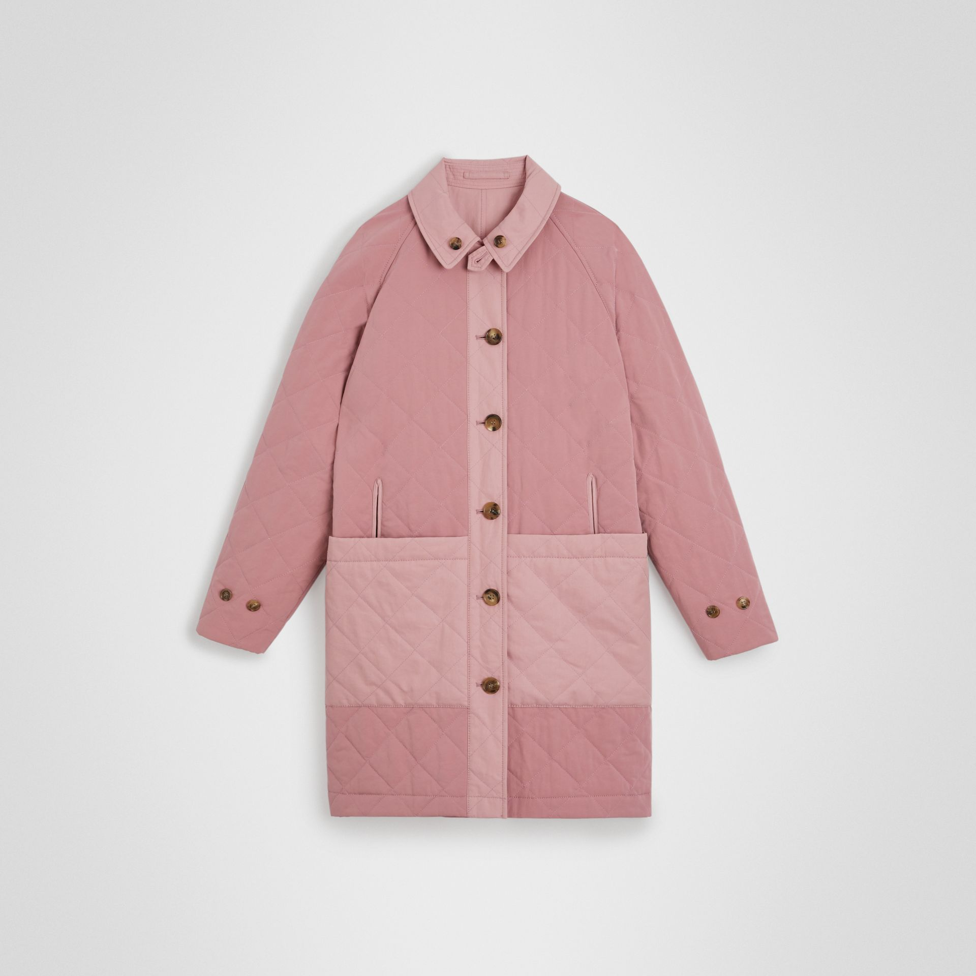 Reversible Tropical Gabardine Car Coat in Chalk Pink | Burberry Canada - gallery image 3