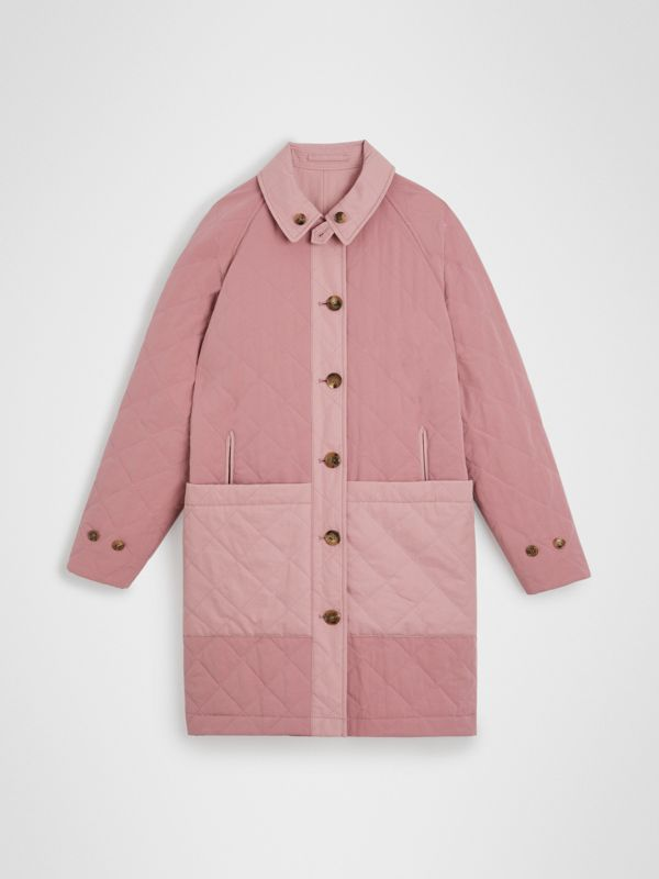 Reversible Tropical Gabardine Car Coat in Chalk Pink | Burberry Canada - cell image 3