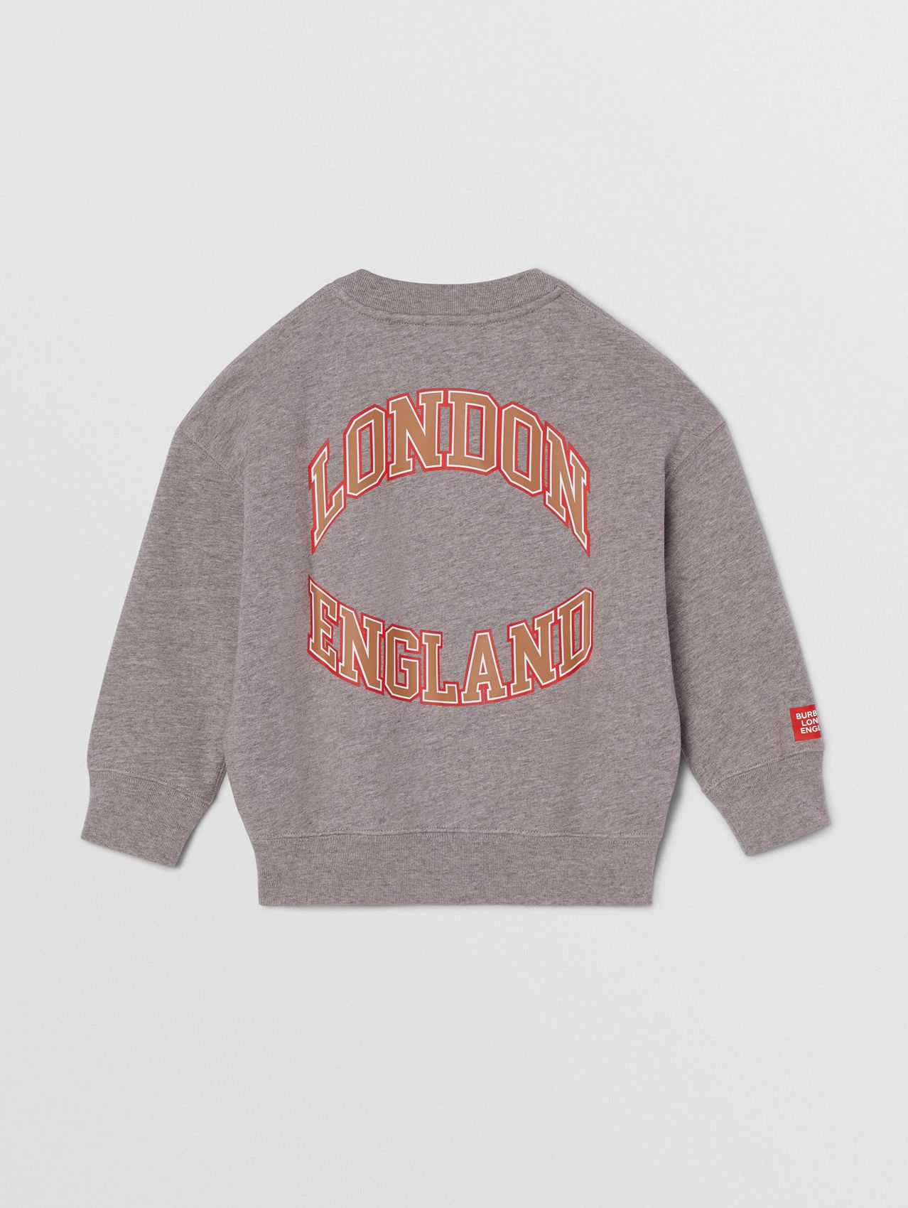 Character Print Cotton Sweatshirt in Grey Melange