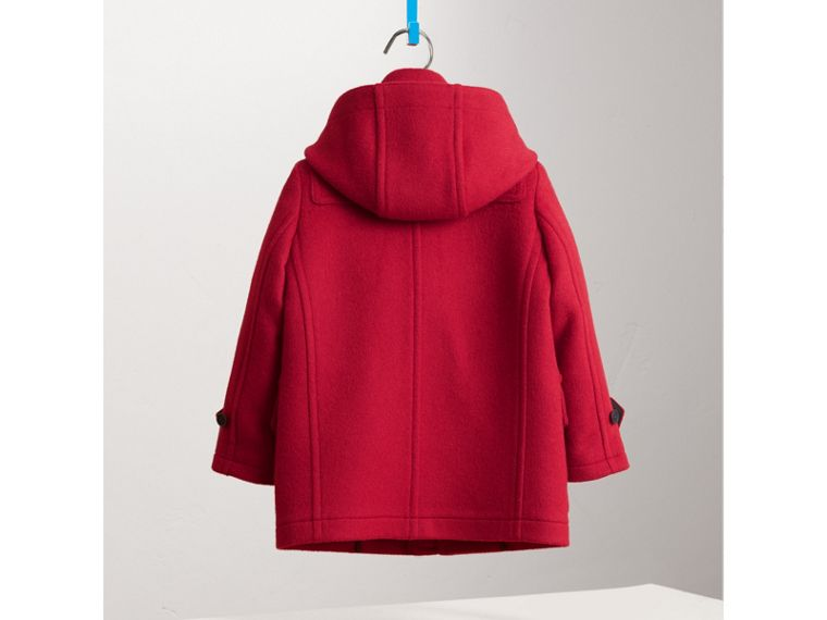 Hooded Wool Duffle Coat in Parade Red - Boy | Burberry - cell image 2