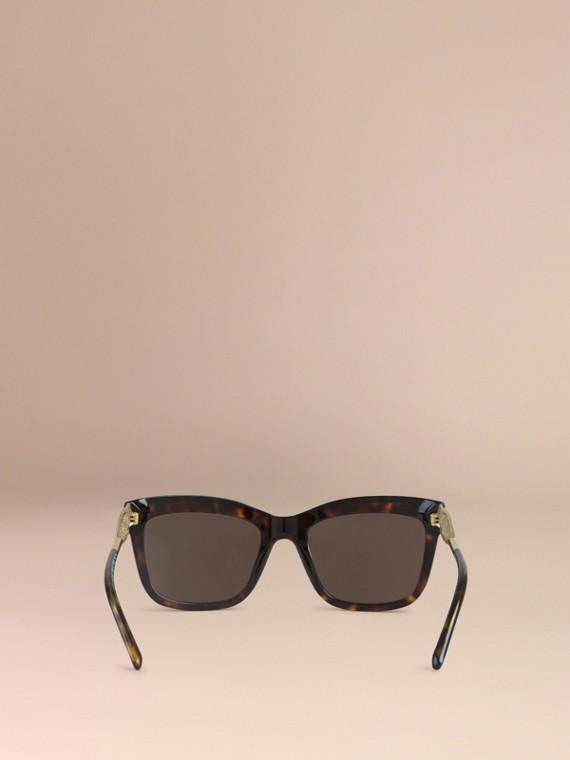 Tortoise shell Gabardine Lace Collection Square Frame Sunglasses Tortoise Shell - cell image 2