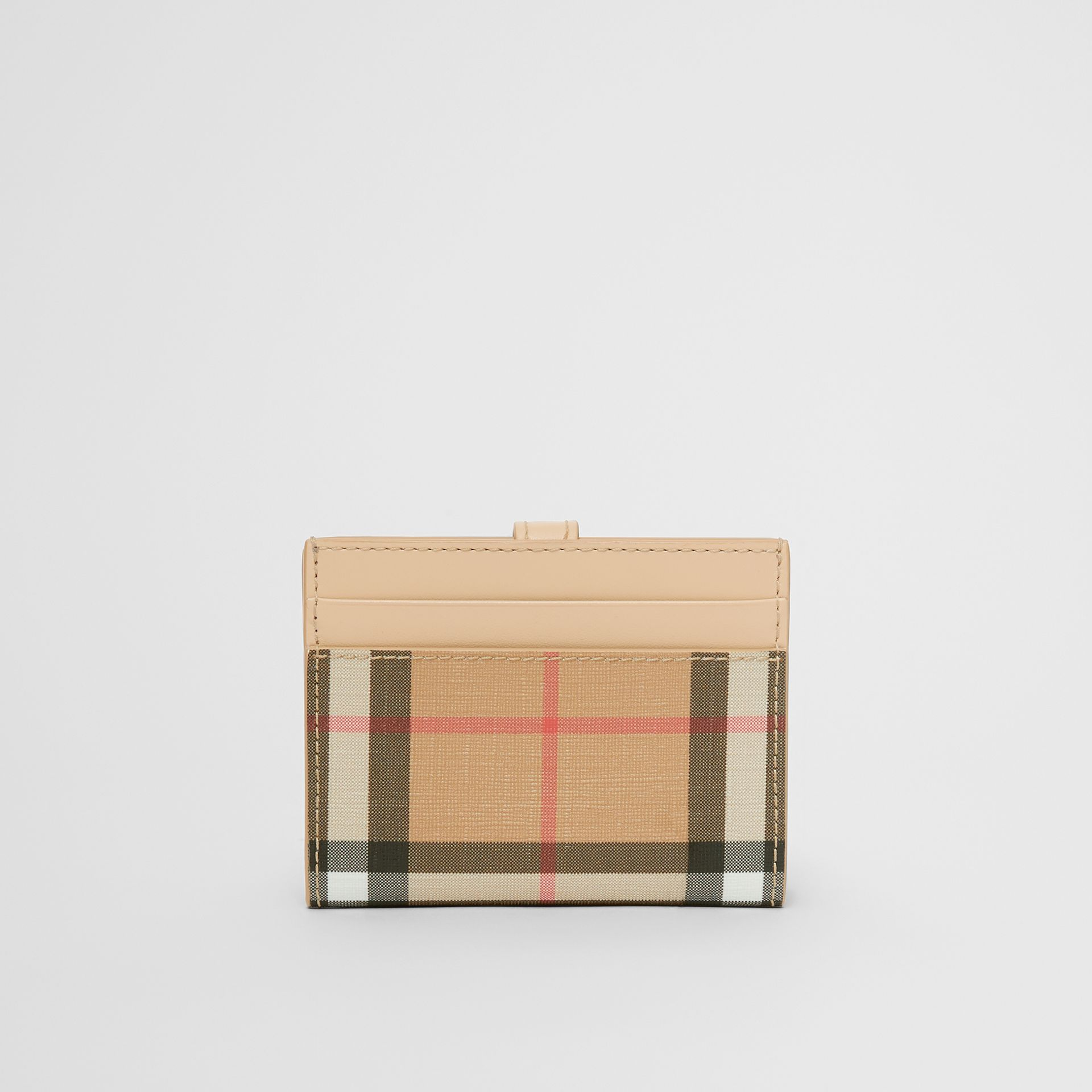 Vintage Check E-canvas Folding Card Case in Beige - Women | Burberry - gallery image 4