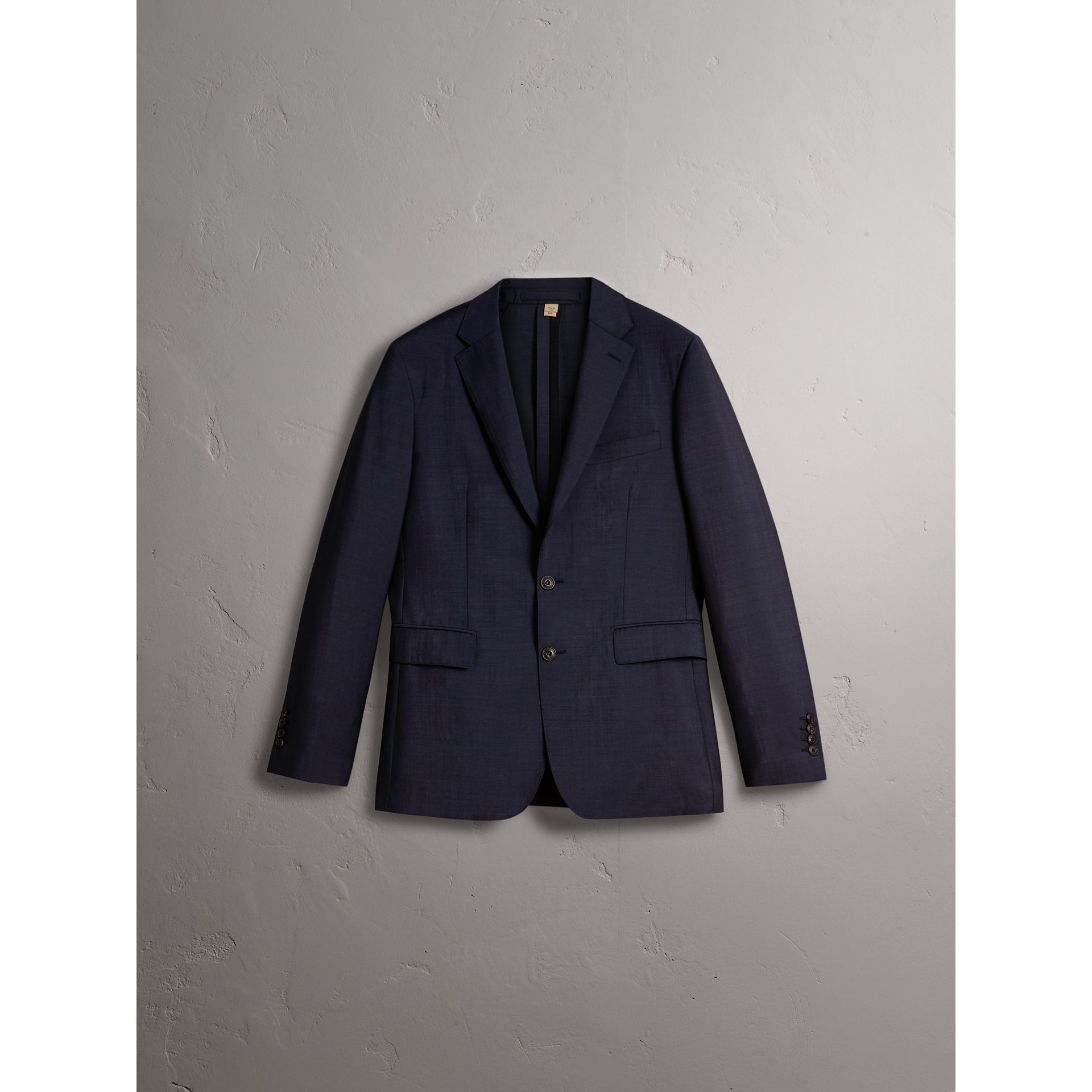 Soho Fit Wool Mohair Suit in Dark Navy - Men | Burberry - gallery image 4