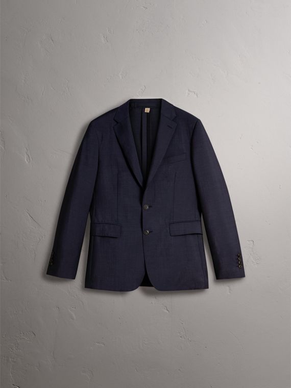 Soho Fit Wool Mohair Suit in Dark Navy - Men | Burberry United Kingdom - cell image 3