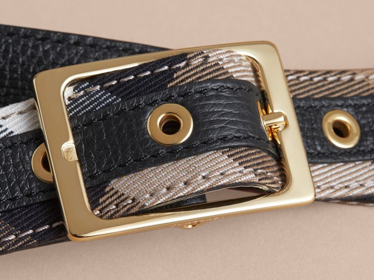 Reversible House Check and Grainy Leather Belt - Women | Burberry - cell image 1