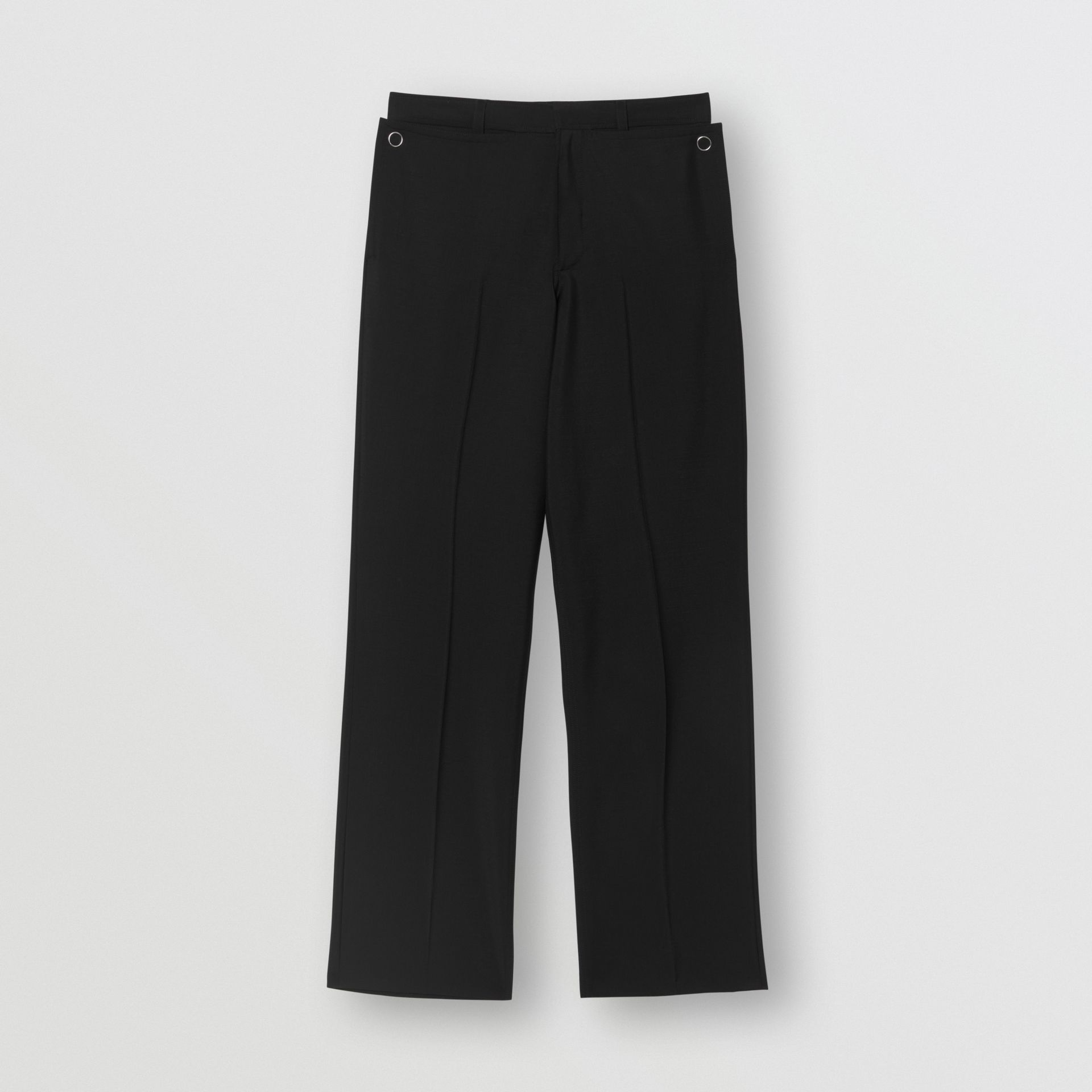 Pocket Detail Wool Mohair Trousers in Black | Burberry United States - gallery image 0