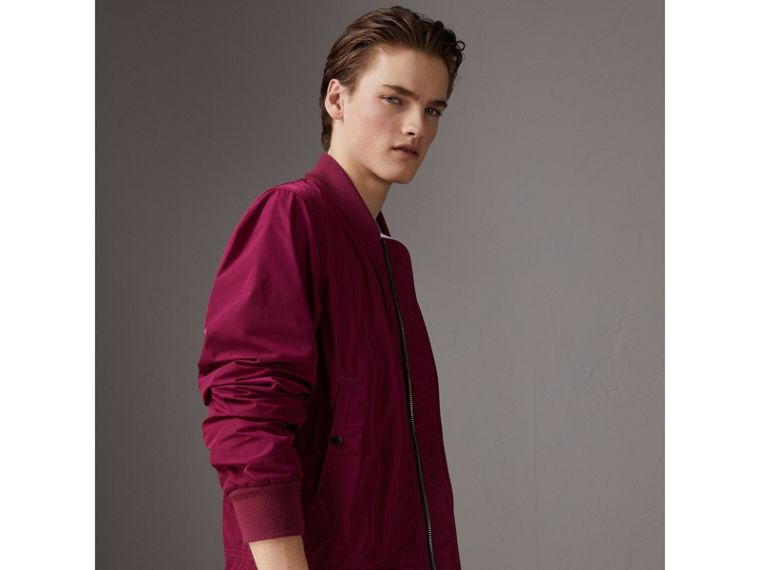 Shape-memory Taffeta Bomber Jacket in Fritillary Pink - Men | Burberry - cell image 4