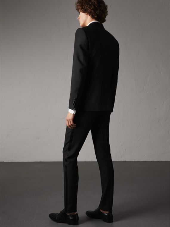 Slim Fit Wool Mohair Half-canvas Tuxedo in Black - Men | Burberry - cell image 2