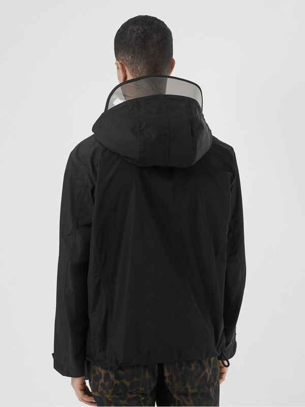Detachable Hood Shape-memory Taffeta Jacket in Black - Men | Burberry - cell image 2