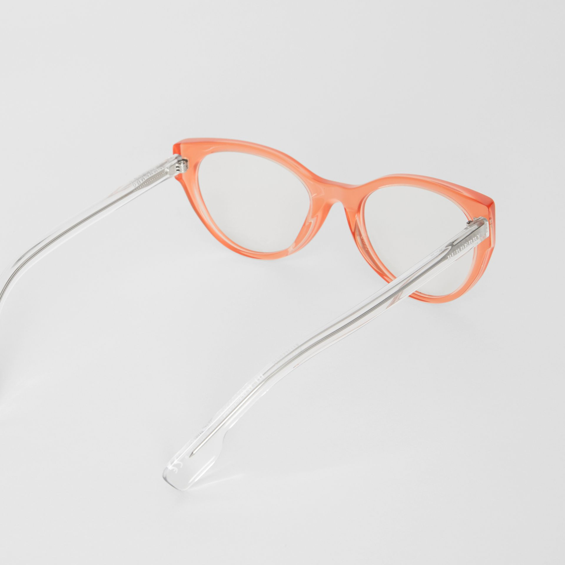 Cat-eye Optical Frames in Peach - Women | Burberry Australia - gallery image 4