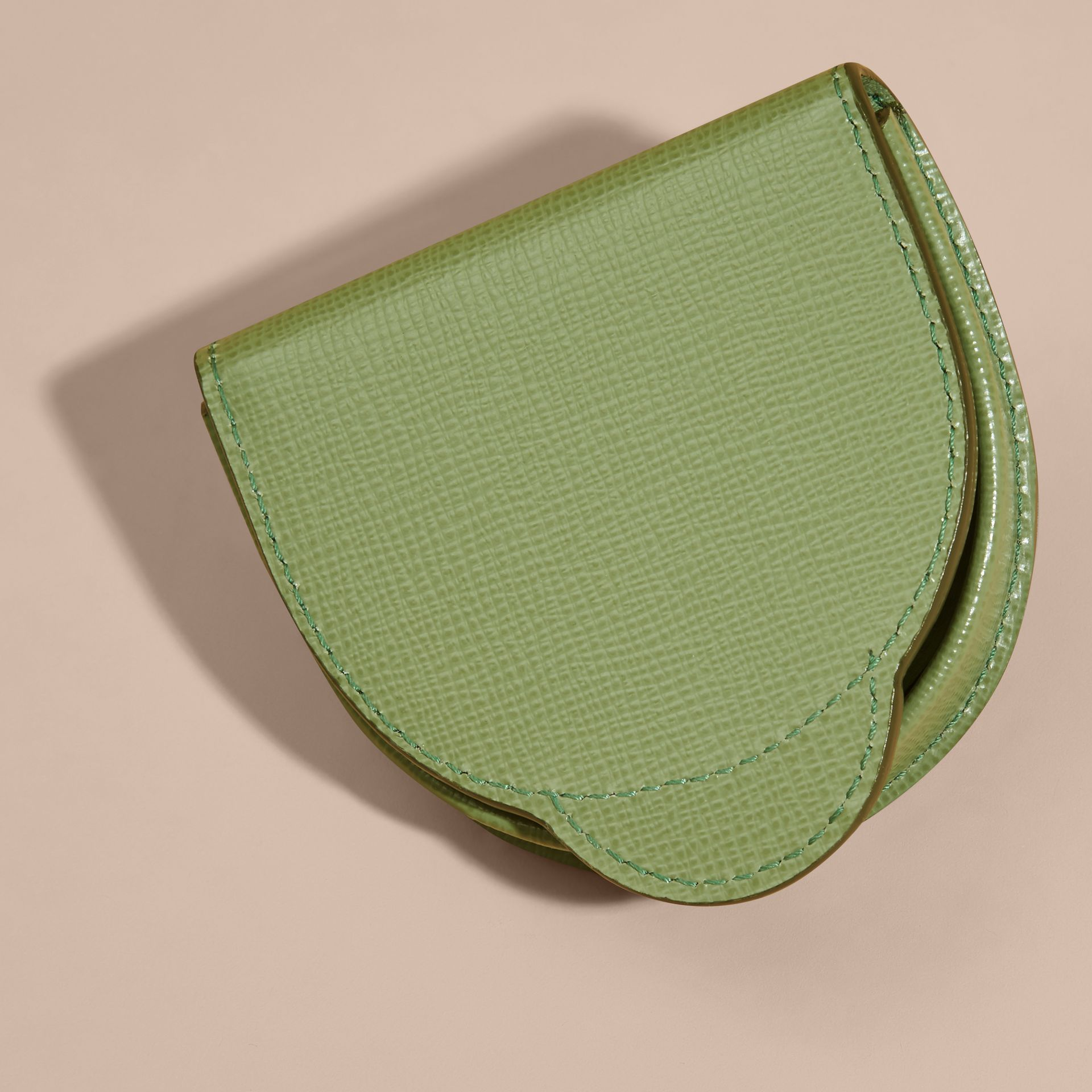 London Leather Coin Case in Antique Green - gallery image 4