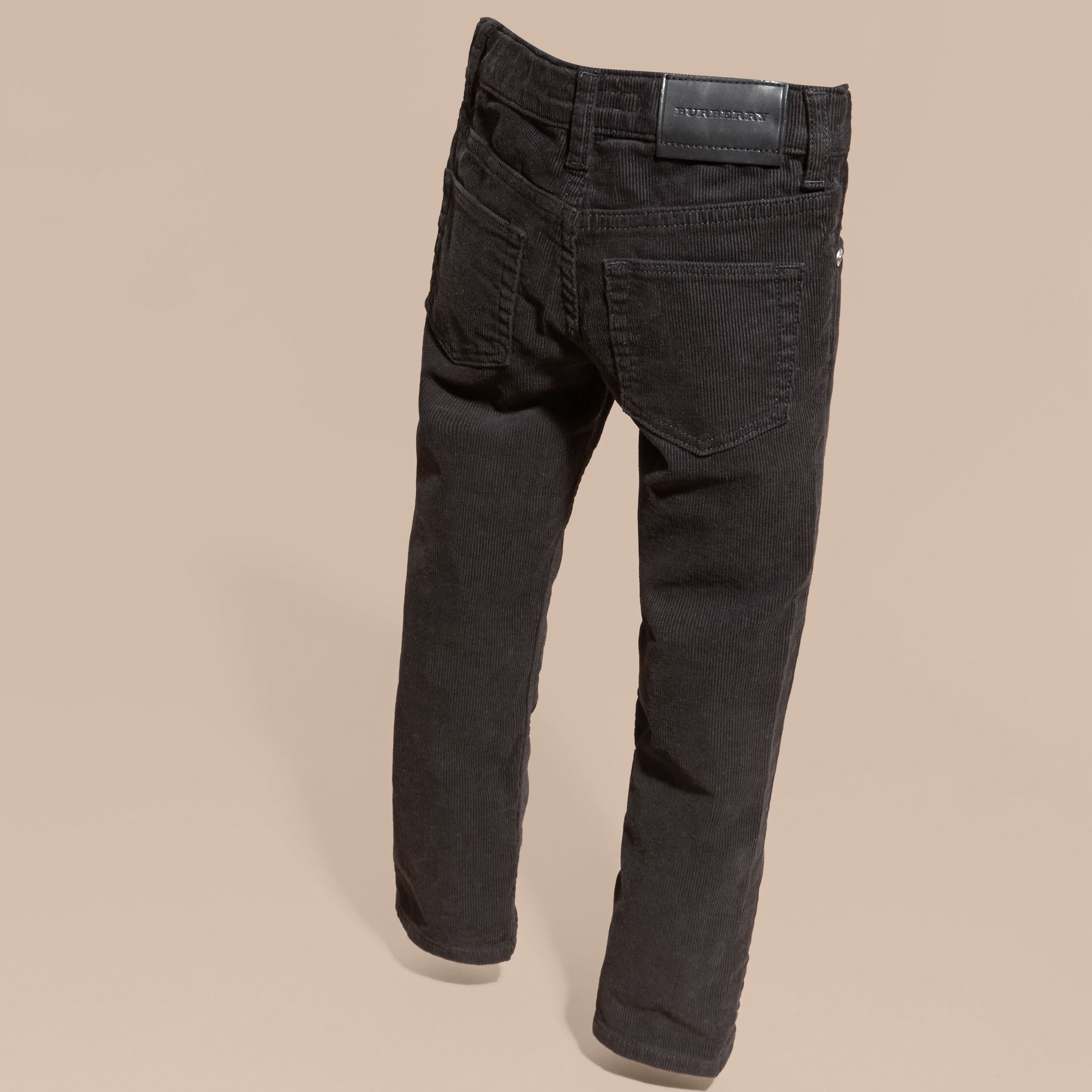 Black Stretch Corduroy Jeans Black - gallery image 4