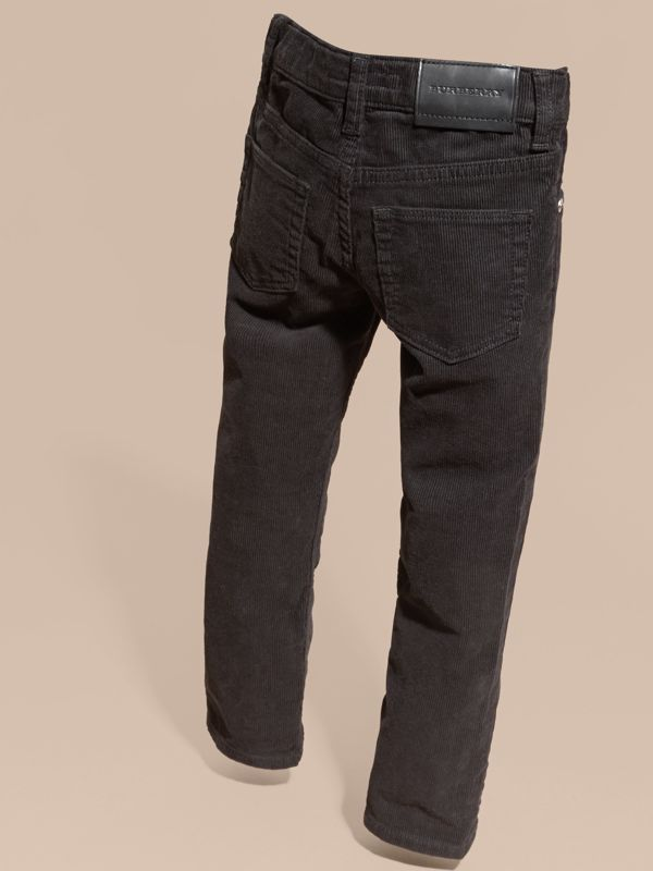 Jeans in corduroy stretch (Nero) | Burberry - cell image 3