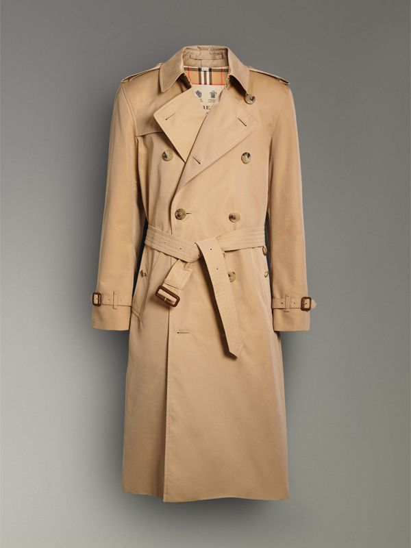 The Long Kensington Heritage Trench Coat in Honey - Men | Burberry - cell image 3