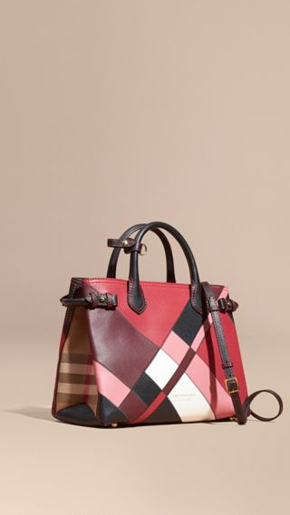 Sac The Banner medium en cuir color-block