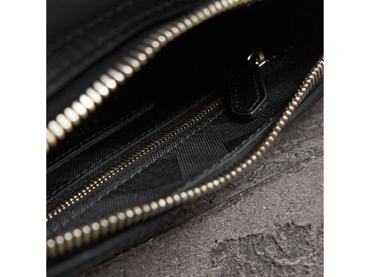 London Leather Pouch in Black | Burberry - cell image 4
