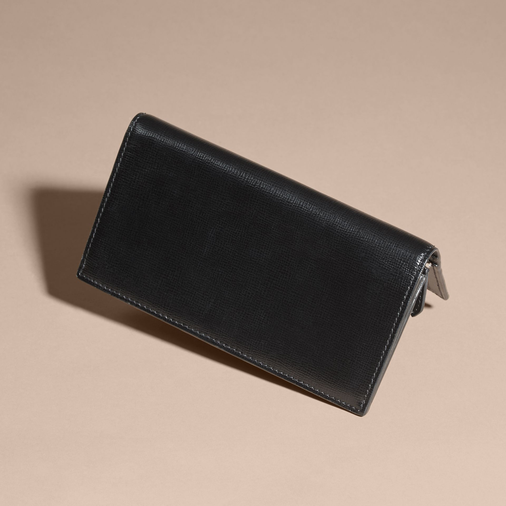 London Leather Continental Wallet in Black | Burberry Australia - gallery image 3