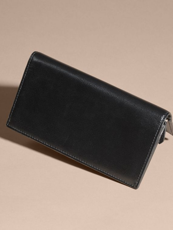 London Leather Continental Wallet in Black | Burberry Canada - cell image 2