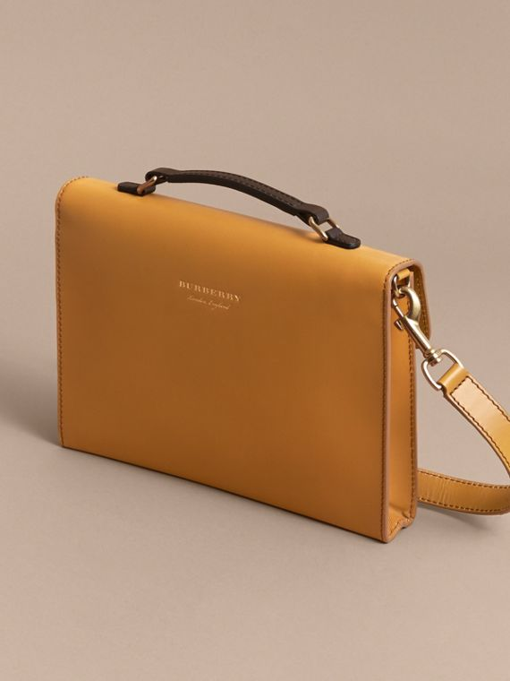 The DK88 Document Case in Ochre Yellow - Men | Burberry Australia - cell image 2