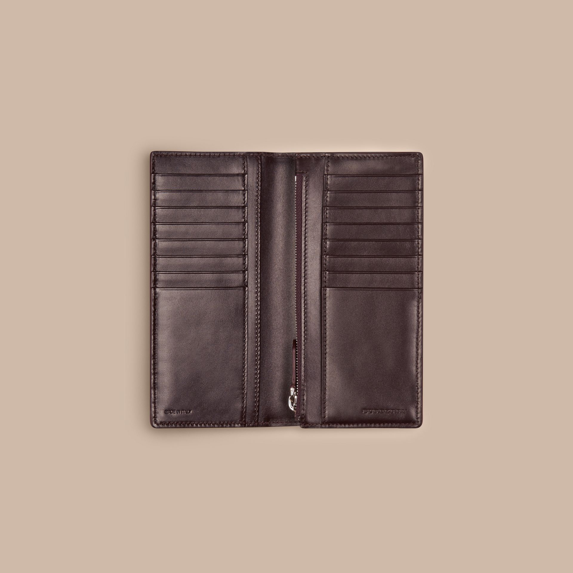 Wine London Leather Continental Wallet - gallery image 5