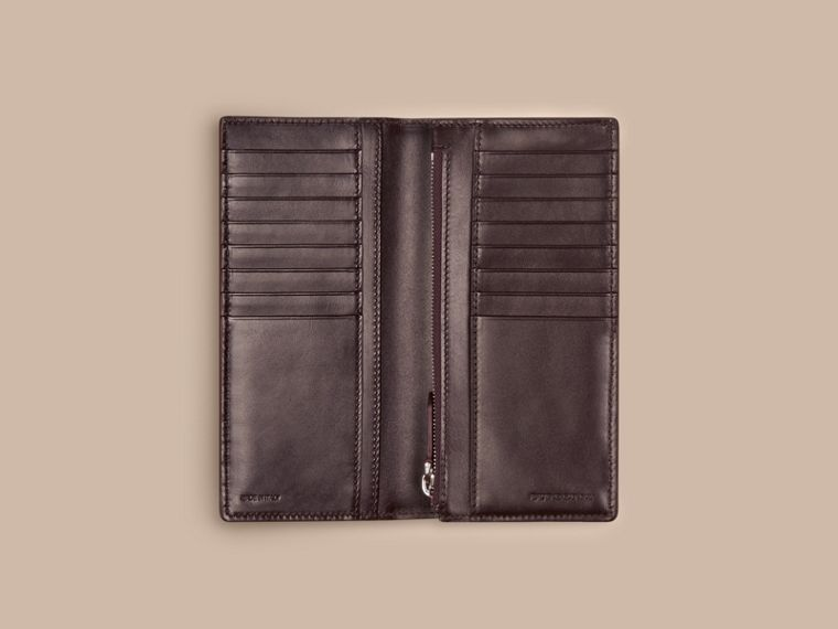 Wine London Leather Continental Wallet Wine - cell image 4