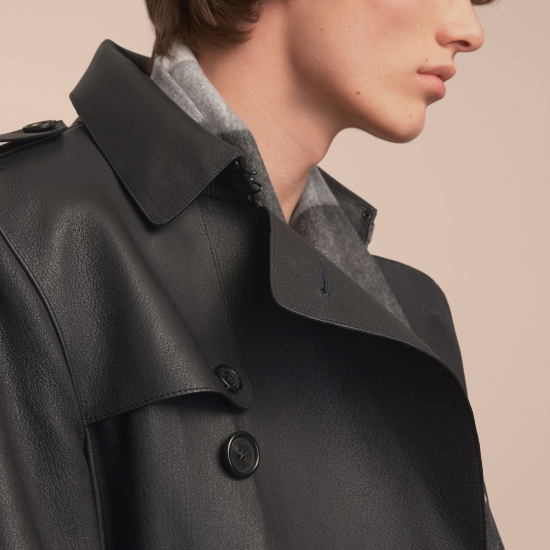Soft Lambskin Trench Coat - gallery image 5