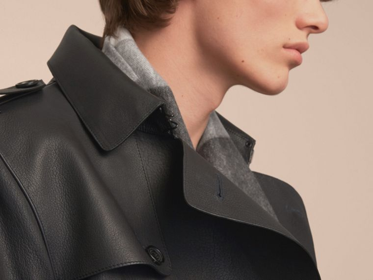 Soft Lambskin Trench Coat - cell image 4